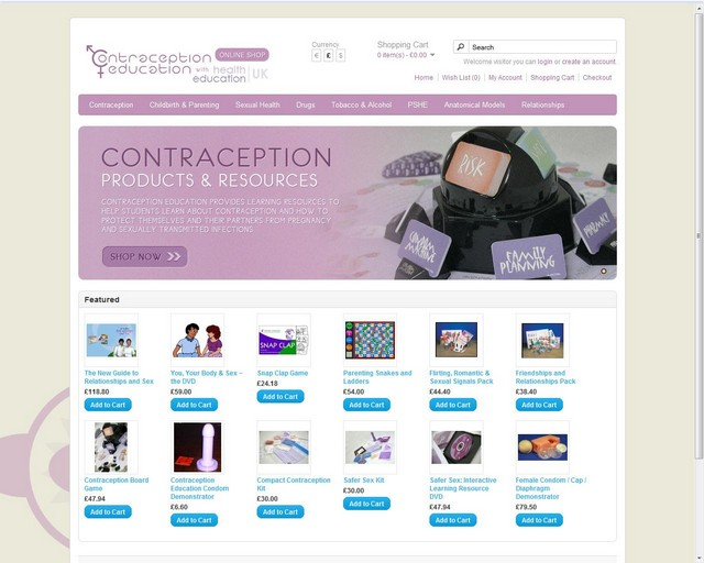 Contraception Education New Online Store